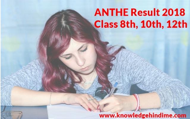 Class 8th, 10th, 12th ANTHE 2018 Result कैसे देखे / Check करे